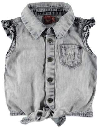 Babyface Tie Denim Blouse