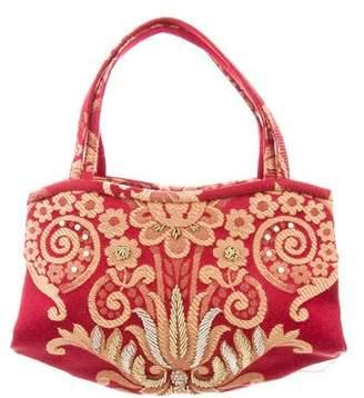 Manolo Blahnik Embroidered Mini Bag
