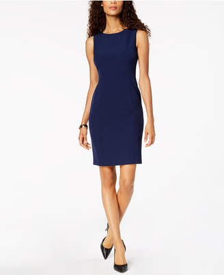 Kasper Crew-Neck Sheath Dress