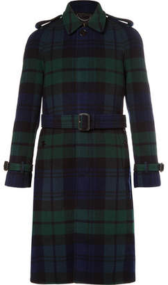 Burberry Black Watch Checked Wool And Cashmere-Blend Coat