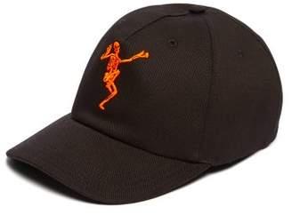 067c0a94a6c Alexander McQueen Dancing Skeleton Embroidered Cotton Baseball Cap - Mens -  Black