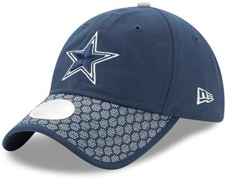 New Era Women's Navy Dallas Cowboys 2017 Sideline Official 9TWENTY Adjustable Hat