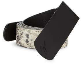Giuseppe Zanotti Snakeskin Pattern Leather Belt