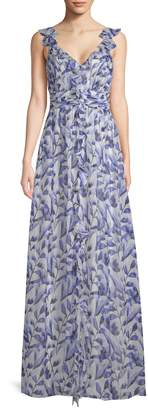 Shoshanna Women's Printed Maxi Gown