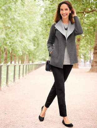 Talbots Double-Face Wing Collar Jacket - Two-Tone