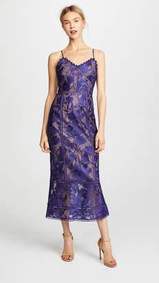 Marchesa Tea Length Cocktail Dress