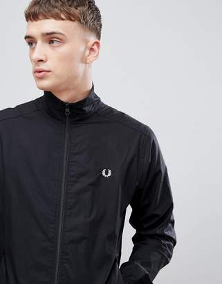Fred Perry woven zip through jacket in black