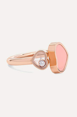 Chopard Happy Hearts 18-karat Rose Gold, Diamond And Stone Ring