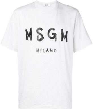 MSGM contrasting logo T-shirt