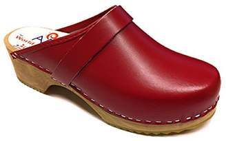 World of Clogs.com AM-Toffeln 100 Swedish Wooden Clogs in leather - Size 41