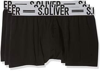 S'Oliver Men's 26.899.97.4229 Boxer Shorts, Multicolour (Grey Striped and Black Uni 12B6), S (Manufacturer Size: 4)
