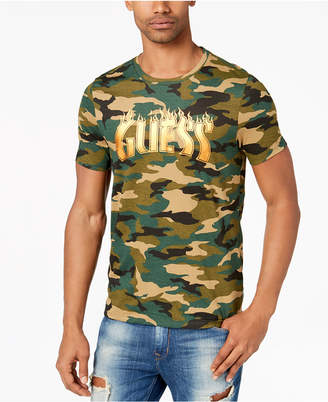 GUESS Men's Camo Graphic-Print T-Shirt