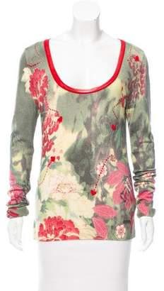 Galliano Wool Intarsia Sweater
