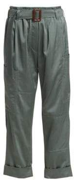 Brunello Cucinelli Belted Satin Pants