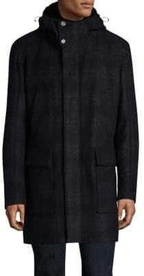 Strellson Anaya Hooded Plaid Jacket