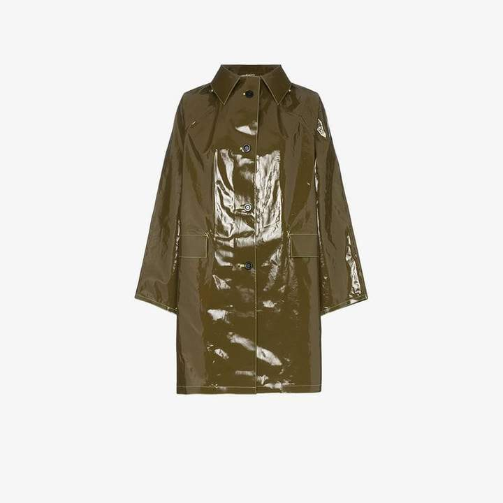 Kassl single-breasted vinyl coat