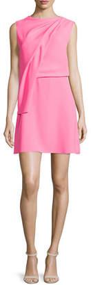 McQ Alexander McQueen Sleeveless Draped Mini Dress, Shocking Pink $465 thestylecure.com