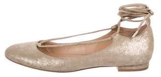 Diane von Furstenberg Suede Lace-Up Flats