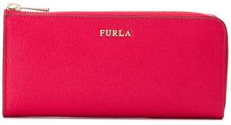 Furla logo zip-around wallet