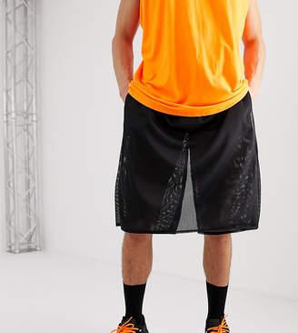 Reclaimed Vintage shorts skirt panel in black mesh