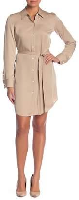 Theory Button Up Silk Shirt Dress