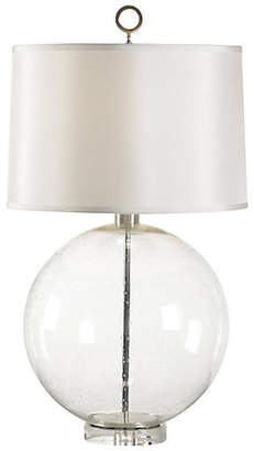 Chelsea House Bubble-Glass Sphere Lamp - Clear/Nickel