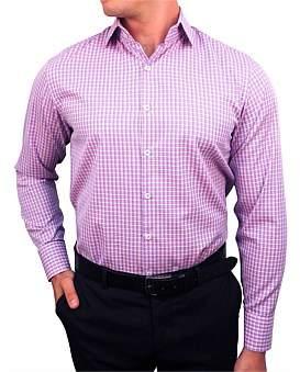 Nigel Lincoln Twill Check Slim Fit Shirt With Cuff Trim