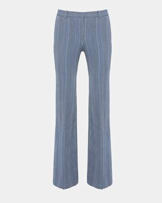 Theory Textured Striped Flare Pant