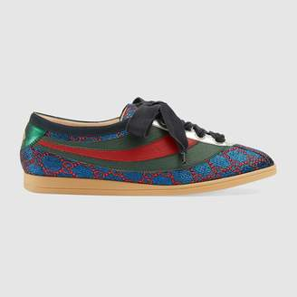 Gucci Falacer lurex GG sneaker with Web