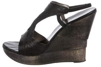 Diane von Furstenberg Leather Slingback Wedges