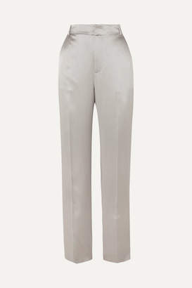 Joseph Jack Silk-satin Straight-leg Pants - Gray