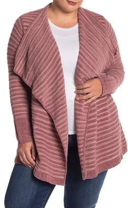 Susina Chenille Knit Shawl Collar Cardigan (Plus Size)
