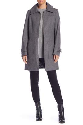 MICHAEL Michael Kors Wool Blend Zip Front Coat