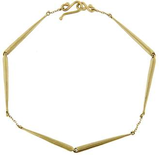 Ten Thousand Things Long Skinny Taper Link Bracelet - Yellow Gold