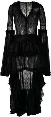 Amen high low hem lace dress