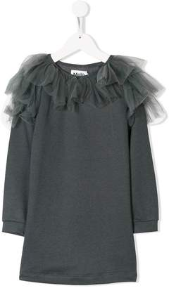 Molo frilled tulle sweatshirt dress