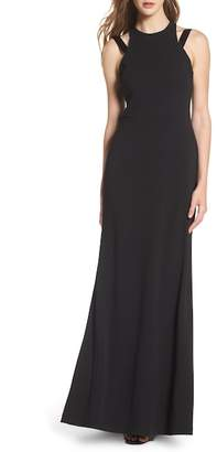 Vera Wang High Neck Strappy Gown