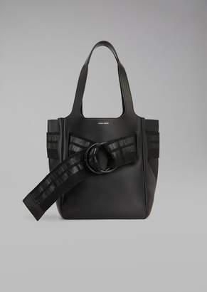 Giorgio Armani Tote Bag With Grosgrain Ribbon
