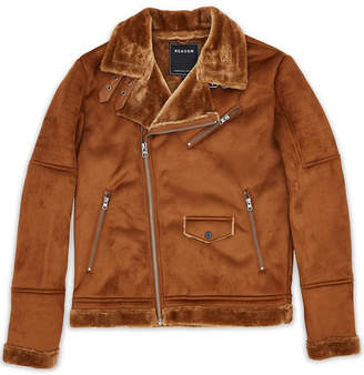 Reason Men Faux Suede Fleece Lined Jacket