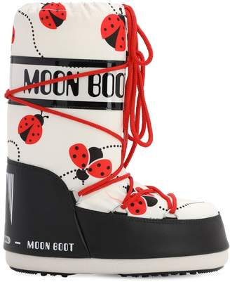 Moon Boot LADYBUG PRINTED NYLON SNOW BOOTS