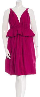 Nina Ricci Sleeveless Peplum Dress