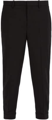 Neil Barrett Cuff-hook wool-blend trousers