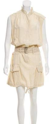 Alberta Ferretti Sleeveless Belted Dress