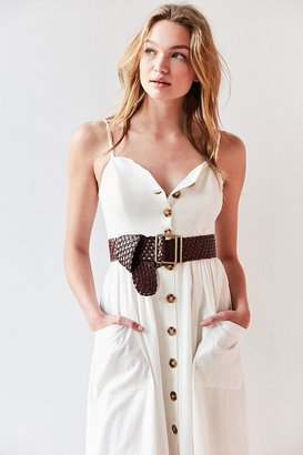 Urban Outfitters Wide Woven Belt $39 thestylecure.com
