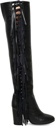 Laurence Dacade 95mm Sybille Fringed Nappa Leather Boots