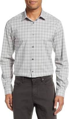 John Varvatos Slim Fit Stretch Plaid Dress Shirt