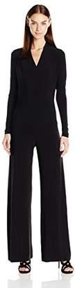 Norma Kamali Women's Long Sleeve Modern Side Drape Jumpsuit