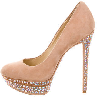 B Brian Atwood Suede Jewel Pumps $95 thestylecure.com