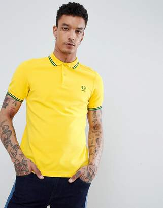 Fred Perry Brazil Polo in Yellow