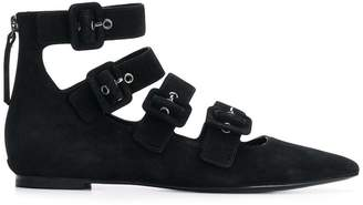 Ash buckled ankle shoes